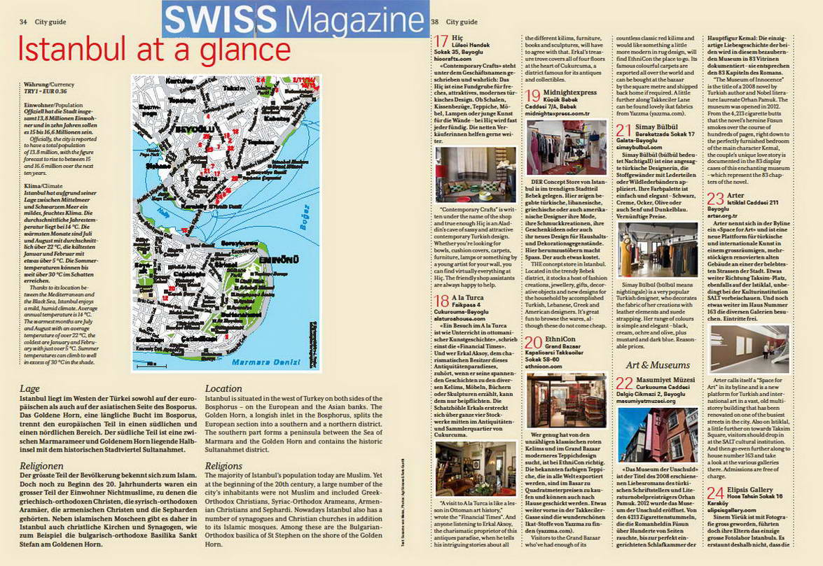 2013 Swiss Air City Guide